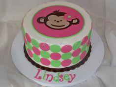 Mod Monkey Birthday Cake   Cake Is Life