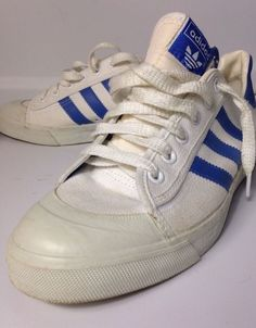 Adidas 1982 Vintage Court Shoes Sneakers Men's L Lo Canvas and Rubber Toe 8 1 2 | eBay