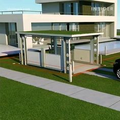Space-saving car lifts are transforming the concept of a driveway Home Car Lift, Garage Car Lift, Car Lifts For Home, Garage Shop, Pole Barn House Plans, Garage House Plans, Pole Barn Homes, House Gate Design, Villa Design
