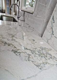 White Quartzite calacatta countertops