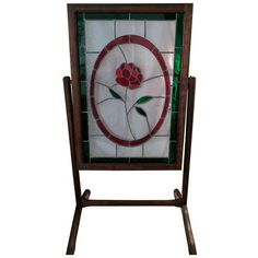 Stained Glass Room Divider ($395) ❤ liked on Polyvore featuring home, home decor, panel screens, screens & room dividers, antique stained glass, window screens, colorful home decor, windows stained glass and rose window stained glass