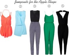 Your Guide to finding the Perfect Jumpsuit - Apple Shape Apple Body Fashion, Apple Shape Fashion, Apple Body Type, Apple Body Shapes, Apple Shape Outfits, Dresses For Apple Shape, Morpho V, Fashion Dictionary, Clothing Hacks