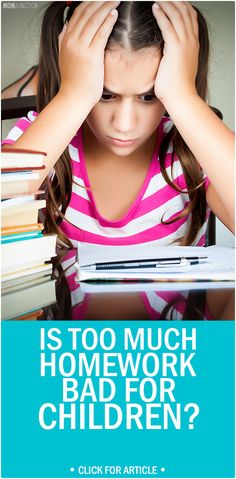 Is Too Much Homework Bad for Children?