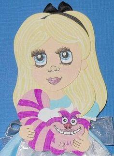 Alice in Wonderland paper piece
