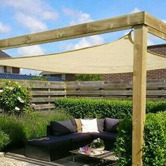 The pergola kits are the easiest and quickest way to build a garden pergola. There are lots of do it yourself pergola kits available to you so that anyone could easily put them together to construct a new structure at their backyard. Diy Pergola, Wooden Pergola, Outdoor Pergola, Pergola Plans, Outdoor Rooms, Backyard Patio, Backyard Landscaping, Outdoor Gardens, Outdoor Decor