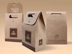 Cake and Cookie Kraft Paper Bag Mockup