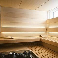 See the home page to enter KLAFS world of saunas and spas! Spas, Sauna Steam Room, Sauna Room, Design Sauna, Sauna Lights, Modern Saunas, Sauna Hammam, Piscina Spa, Spa Interior Design