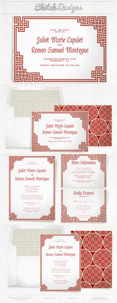 Free pdf download chinese double happiness modern invitation easy oriental chinese wedding invitation and save the date template patterns and envelope liners included stopboris Choice Image