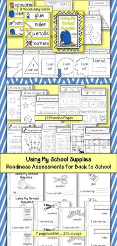 Using My School Supplies is a packet of activities that can be used at any time, but can be especially helpful at the beginning of the school year.  $