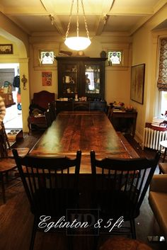 Seven Foot Reclaimed Wood Harvest Table With Leaves   Glengarry Harvest    Farm Tables   Johnsons Antique Store | Harvest Tables | Pinterest |  Products, ...