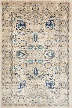 "This Turkish Stockholm rug is made of Polypropylene. This rug is easy-to-clean, stain resistant, and does not shed. Colors found in this rug include: Beige, Gray, Light Blue, Navy Blue, Tan, Teal. The primary color is Beige. This rug is 1/2"" thick."