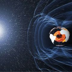 Earth's magnetic field protects our planet from unhealthy solar radiation. Image via ESA. Earth Science, Science And Nature, Science Fair, Outer Core, Earth's Magnetic Field, Electric Universe, Hollow Earth, Stargate, Planet Earth