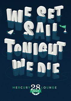'We Set Sail & Tonight We Die' print by Adam Hill