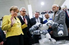 New Robots Designed to Be More Agile and Work Next to Humans | Robot makers are promoting a new generation of robots designed to work safely alongside people and take on tasks such as assembly of small parts that require more dexterity than older robots can muster.