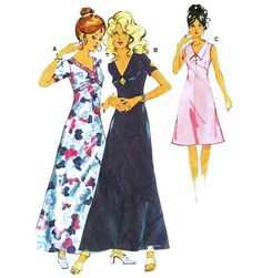 1970s High Waisted Evening or Cocktail Dress by willynillyart