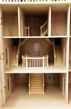 "Staircase: Downton Manor Dolls House Entrance Hall: 18"" W x 18"" D"
