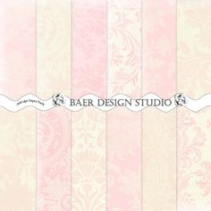 Shabby Chic Pink and Ivory Damask Digital Paper, Blush Damask Paper-12x12 printable paper-baby girl pink scrapbook paper, Pink Bridal Shower