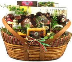 Features a beautiful hand crafted basket with rope accents and double drop handles Loaded with some of the most unique meats and cheeses ever assembled in a gift basket Real Wisconsin cheeses and classic Wisconsin sausages help make this the best meat and cheese gift basket online Gift Basket Village The Midwesterner Cheese and Sausage Gift Basket, Large