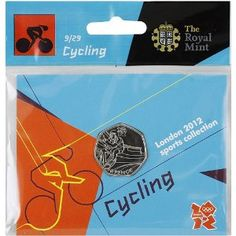 Price: $4.95 - Olympics The Royal Mint London 2012 Sports Collection Cycling 50p Coin - TO ORDER, CLICK ON PHOTO