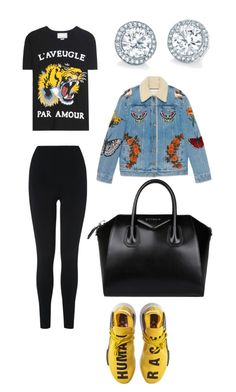 """""""♀️"""" by callmeshania ❤ liked on Polyvore featuring L.K.Bennett, Gucci, adidas and Givenchy"""
