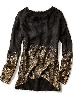 Gold dipped sweater - perfect holiday party outfit!