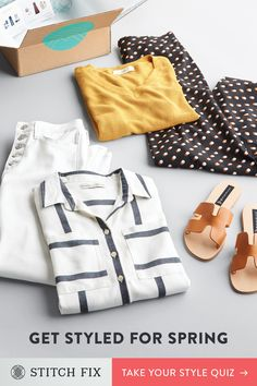 Let a Stitch Fix Personal Stylist hand-select and deliver clothes that match your taste, size & price preferences. Try pieces on at home and keep what works. Shipping, returns & exchanges are always free. Plus, there's no subscription required. Sign up now and make this your most stylish season yet.