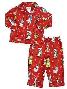 Sleepwear 147336: Nick And Nora Infant And Toddler Boys Christmas Dog Flannel Pajama Sleepwear Set 18M -> BUY IT NOW ONLY: $49.24 on eBay!