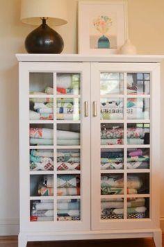 Quilt storage for craft room