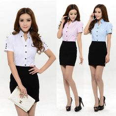 Here's a fast look into a number of the new trends in working women's fashion. Simple Outfits, Casual Outfits, Fashion Outfits, Womens Fashion, Suits For Women, Clothes For Women, Skirt And Top Set, Office Outfits, Office Uniform