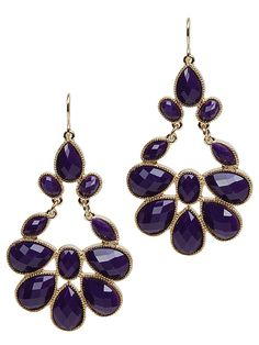 Ornate Teardrop Chandelier Earring E-879     Comes in Purple, Orange, Turquoise, and White