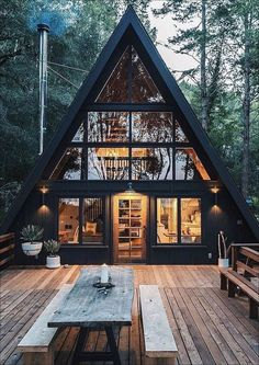 Tiny House Cabin, Cabin Homes, Tiny Houses, Cabin Design, Tiny House Design, Design Design, Design Ideas, Casas Containers, A Frame Cabin
