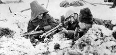 Romanian soldiers near Stalingrad.