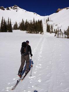Backcountry skiing Cardiff Pass (Alta, UT)