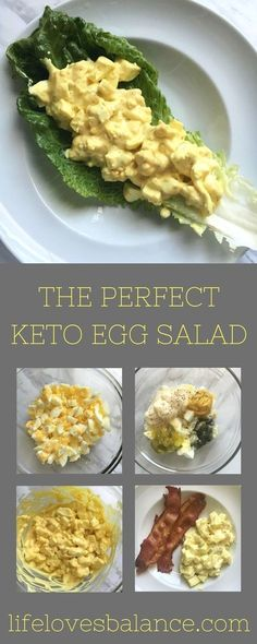 This Keto Egg Salad is the perfect dish for anyone eating a low carb or ketogenic diet. This dish is delicious and will always leave you satisfied. Low Carb Meal Plan, Low Carb Lunch, Low Carb Diet, Keto Diet Meals, Keto Snacks, Shred Diet Recipes, Simple Keto Meals, Easy Low Carb Recipes, 0 Carb Foods