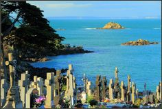 Cimetière marin de Tréboul à Douarnenez Bretagne, France