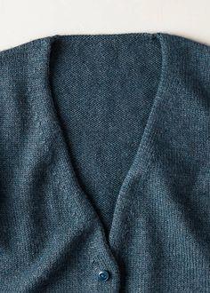 Low-V Cardigan | Purl Soho Knitting Patterns Free, Free Knitting, Knit Cardigan Pattern, Purl Soho, Professional Wardrobe, Stockinette, Mulberry Silk, Knit Crochet, Knits