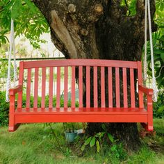 Have to have it. International Caravan Chelsea Painted Acacia Porch Swing with Curved Back - $178.08 @hayneedle