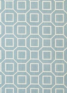 """""""Outdoor - Soho, Robin""""  54"""" wide 100% Polyester. Made of 100% Polyester, upholstery weight fabric, weighs 10 oz or 300 grams per yard. Perfect for drapery, curtains, pillows, foam bench or furniture covers and more. Suitable for indoors as well.  Pattern is multi directional. Vertical repeat is 3"""" x 1.5"""" horizontal.  Machine washable, cold water, mild detergent, low heat or lay flat to dry. Good for 500 hours of sunlight, stain. $11"""
