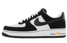 Nike Air Force 1 Low – Black/White – Spirit Gold