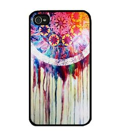 awesome Cool Phone Cases | Dream Catcher Design Skin on Black Hard Case Cool for Iphone 4/4s,iphone 4g/4gs
