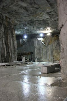 Carrara - Cava Ravaccione #TuscanyAgriturismoGiratola Brick And Stone, Stone Work, La Spezia Italy, What Is Fear, Stone Quarry, Industrial Photography, Fantasy Places, Marble Stones, Light Installation