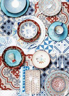 Moroccan Décor: Home Decor, Home Improvement & Home Design – Self Home Decor Textures Patterns, Color Patterns, Color Schemes, Print Patterns, Mixing Patterns, Design Patterns, Color Combinations, Mixing Colours, Design Ideas