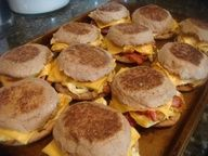 Make-ahead and Freeze All kinds of recipe ideas! I totally need to do this.  I hate cereal but do not like buying those very processed breakfast sandwiches.