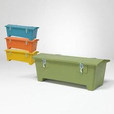 Outdoor storage boxes - colourful