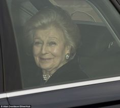 The Queen's cousin, Princess Alexandra, who was the youngest granddaughter of King George V and Queen Mary, looked delighted to be attending the event