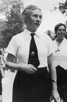 The leader of German women in Nazi Germany: Gertrud Scholtz-Klink. Description from germanwarmachine.com. I searched for this on bing.com/images