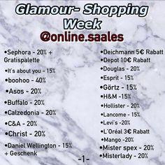 sephora glamour shopping week