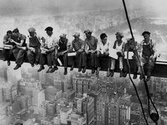 """It was supposed to be in reply to a """"fear of heights"""" construction photo.  Can't pin it there but pinning it here because, hey... NO WAY!!!! .. Those guys were crazy brave!"""