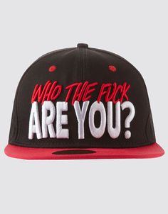 Who The Fuck Are You? Snapback, Drop Dead Clothing