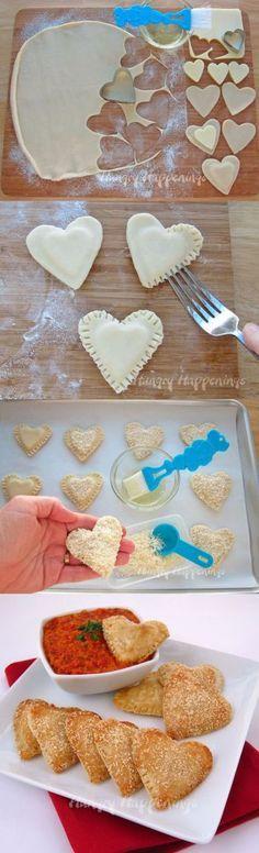 Pastel em forma de coração                                                                                                                                                                                 Mais